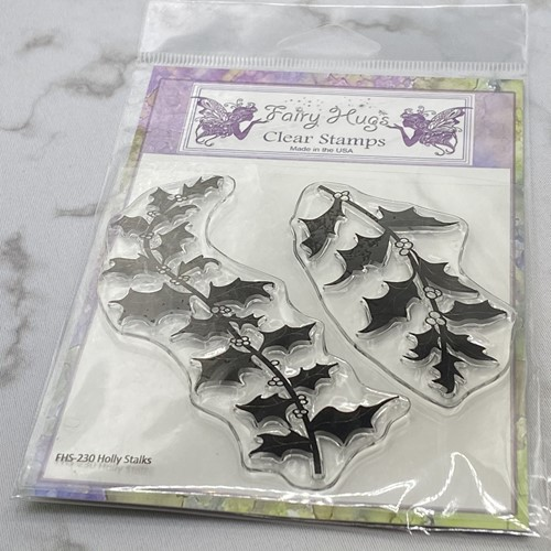 Fair Hugs HOLLY STALKS Clear Stamps FHS-230 Preview Image