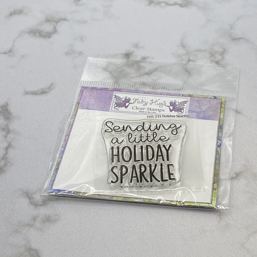 Fairy Hugs HOLIDAY SPARKLE Clear Stamp FHS-231 zoom image
