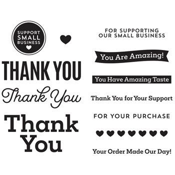 STP-062 Spellbinders SUPPORT SMALL BUSINESS Clear Stamps