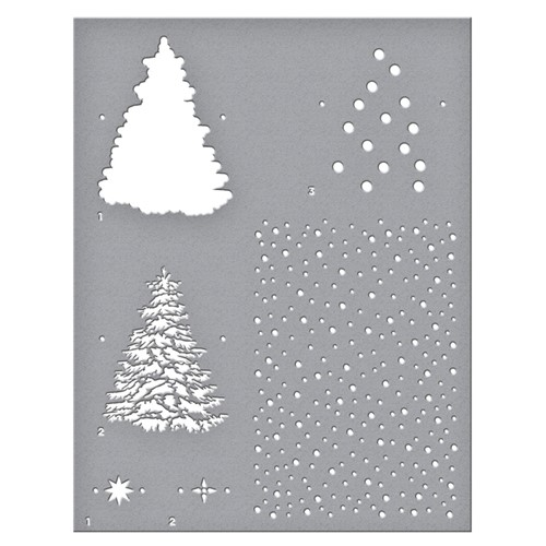 STN-003 Spellbinders LAYERED CHRISTMAS TREE Stencil Preview Image