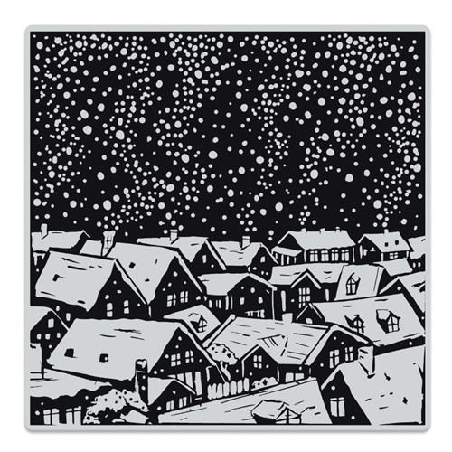 Hero Arts Cling Stamp SNOWY ROOFTOPS BOLD PRINTS CG854 Preview Image