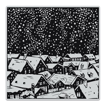 Hero Arts Cling Stamp SNOWY ROOFTOPS BOLD PRINTS CG854