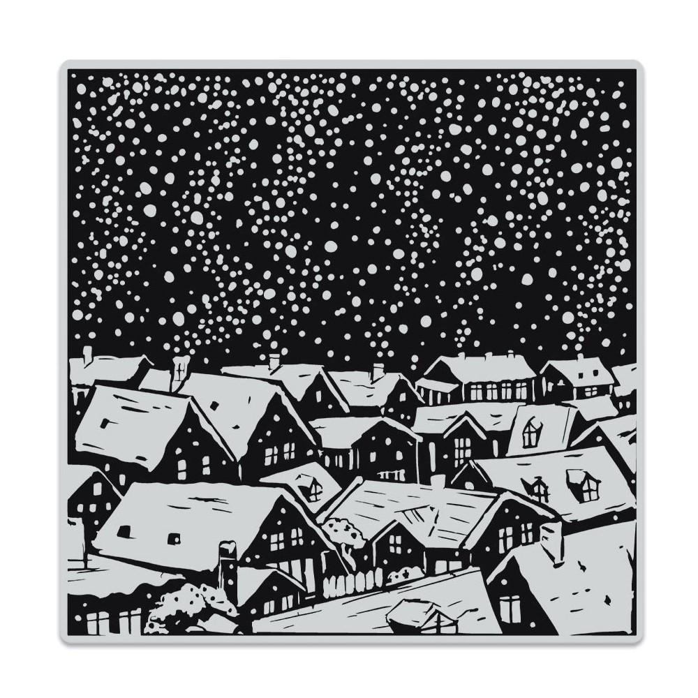 Hero Arts Cling Stamp SNOWY ROOFTOPS BOLD PRINTS CG854 zoom image
