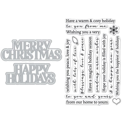 Hero Arts Stamp and Cuts XL CHRISTMAS HOLIDAY DC288 Preview Image