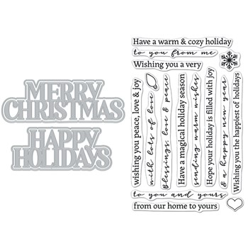 Hero Arts Stamp and Cuts XL CHRISTMAS HOLIDAY DC288