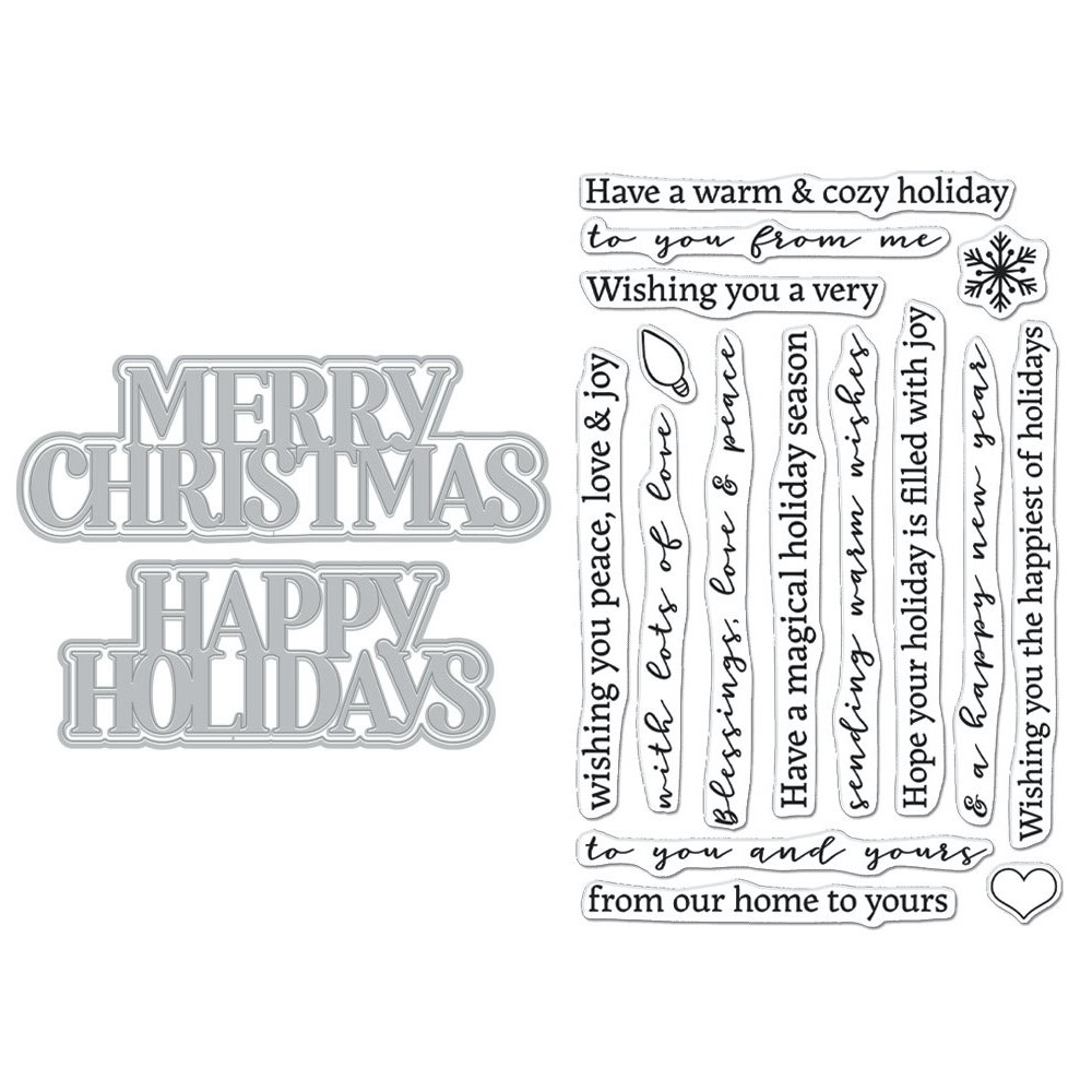 Hero Arts Stamp and Cuts XL CHRISTMAS HOLIDAY DC288 zoom image