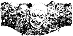 Tim Holtz Rubber Stamp CLOWNS Stampers Anonymous U3-1479