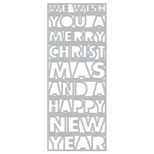 Hero Arts Fancy Dies SLIMLINE CHRISTMAS AND NEW YEAR COVER PLATE DI918 Preview Image
