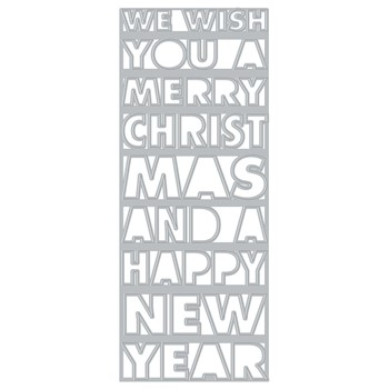 Hero Arts Fancy Dies SLIMLINE CHRISTMAS AND NEW YEAR COVER PLATE DI918