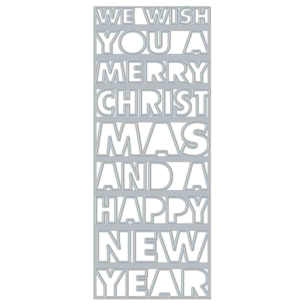 Hero Arts Fancy Dies SLIMLINE CHRISTMAS AND NEW YEAR COVER PLATE DI918 zoom image