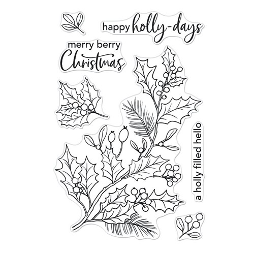 Hero Arts Clear Stamps HOLLY BERRIES CM557 Preview Image