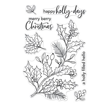 Hero Arts Clear Stamps HOLLY BERRIES CM557