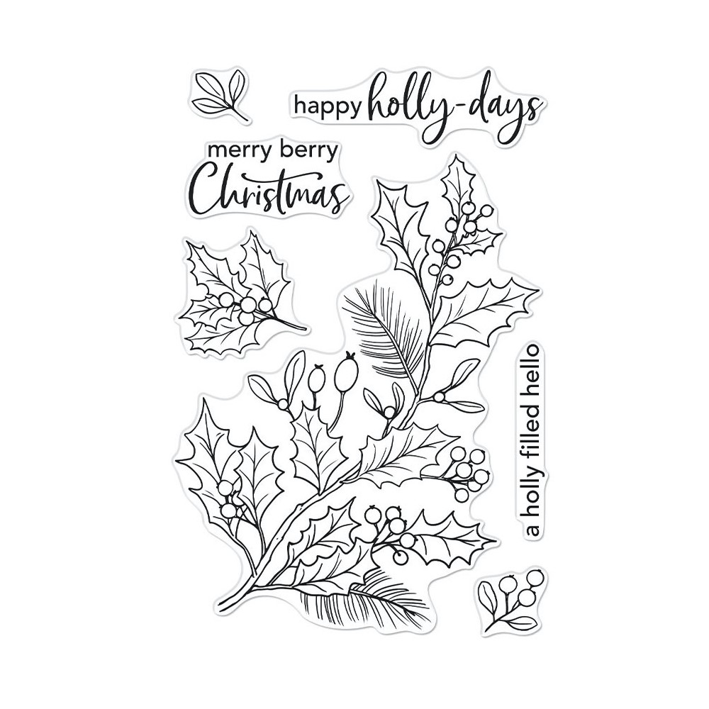 Hero Arts Clear Stamps HOLLY BERRIES CM557 zoom image