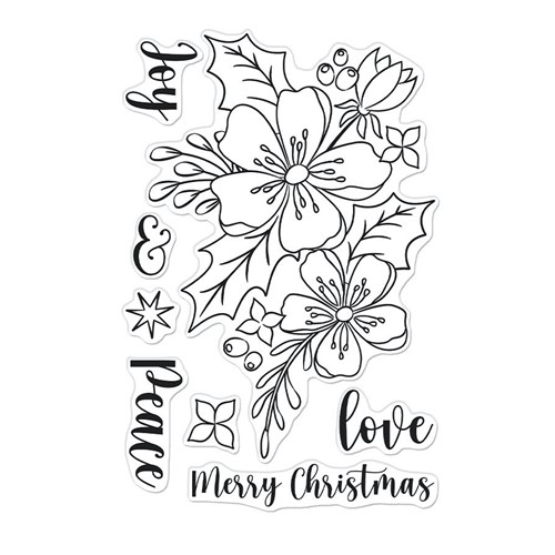 Hero Arts Clear Stamps CHRISTMAS ROSE CM555 Preview Image