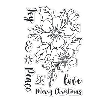 Hero Arts Clear Stamps CHRISTMAS ROSE CM555