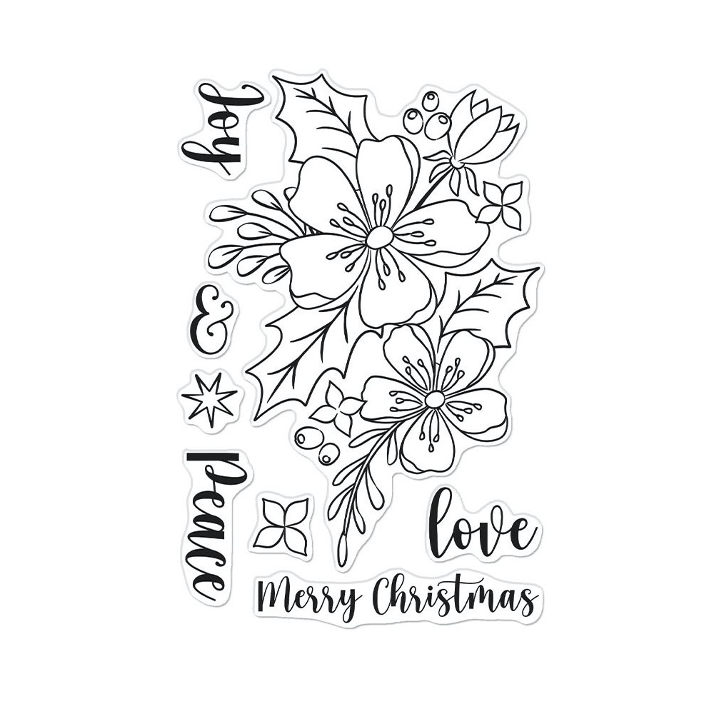 Hero Arts Clear Stamps CHRISTMAS ROSE CM555 zoom image