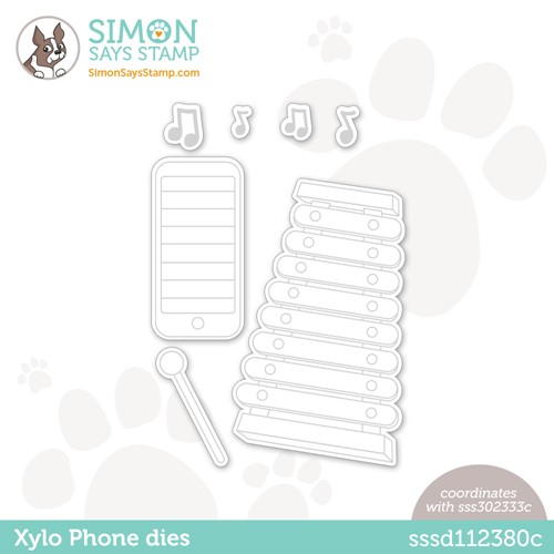 Simon Says Stamp XYLO PHONE Wafer Dies sssd112380c Make Magic Preview Image