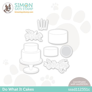 Simon Says Stamp DO WHAT IT CAKES Wafer Dies sssd112351c Make Magic
