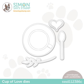 Simon Says Stamp CUP OF LOVE Wafer Dies sssd112386c Make Magic