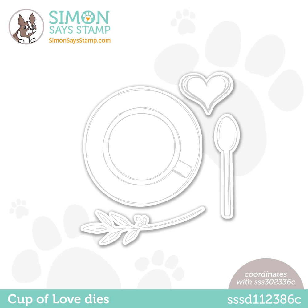 Simon Says Stamp CUP OF LOVE Wafer Dies sssd112386c Make Magic zoom image