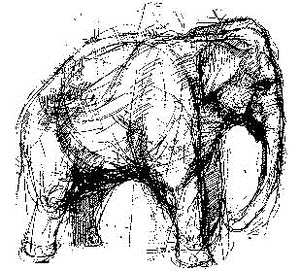 Tim Holtz Rubber Stamp ELEPHANT Stampers Anonymous V1-1494 Preview Image