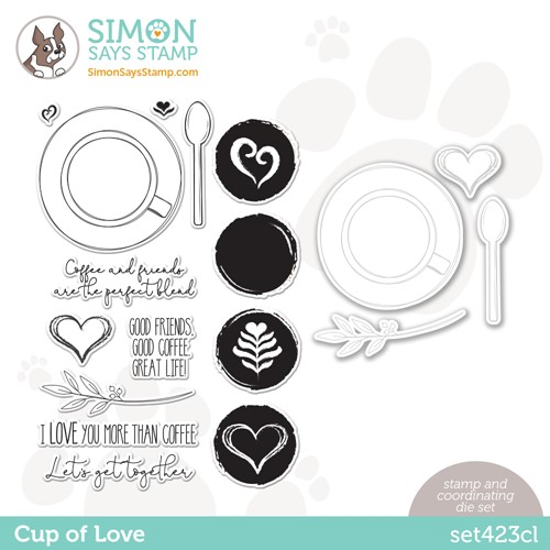 Simon Says Stamps and Dies CUP OF LOVE set423cl Make Magic Preview Image