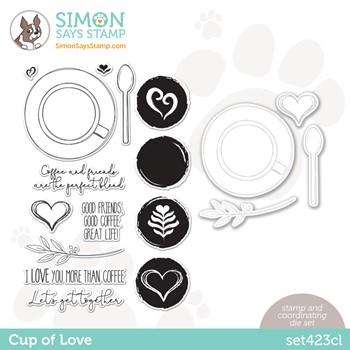 Simon Says Stamps and Dies CUP OF LOVE set423cl Make Magic