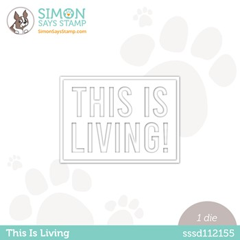 Simon Says Stamp THIS IS LIVING Wafer Die sssd112155 Make Magic *