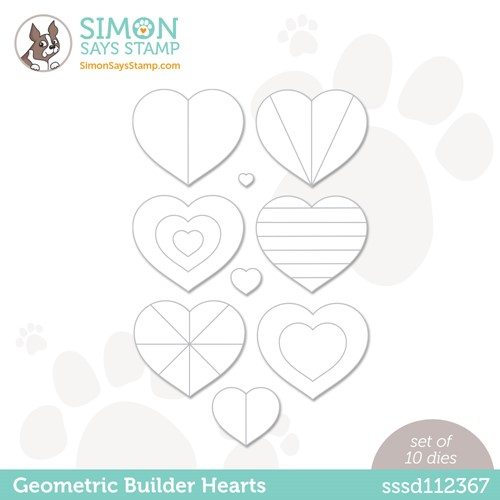 Simon Says Stamp GEOMETRIC BUILDERS HEARTS Wafer Dies sssd112367 Make Magic Preview Image