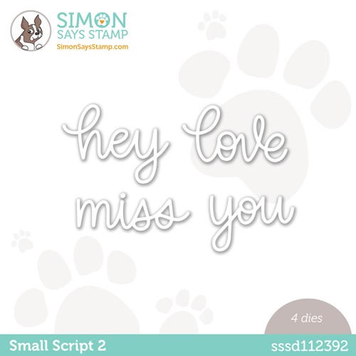 Simon Says Stamp SMALL SCRIPT 2 Wafer Dies sssd112392 Make Magic Preview Image