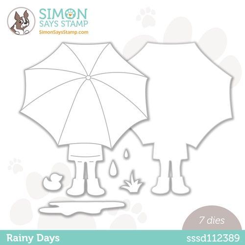 Simon Says Stamp RAINY DAYS Wafer Die sssd112389 Make Magic Preview Image