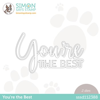 Simon Says Stamp YOU'RE THE BEST Wafer Die sssd112388 Make Magic