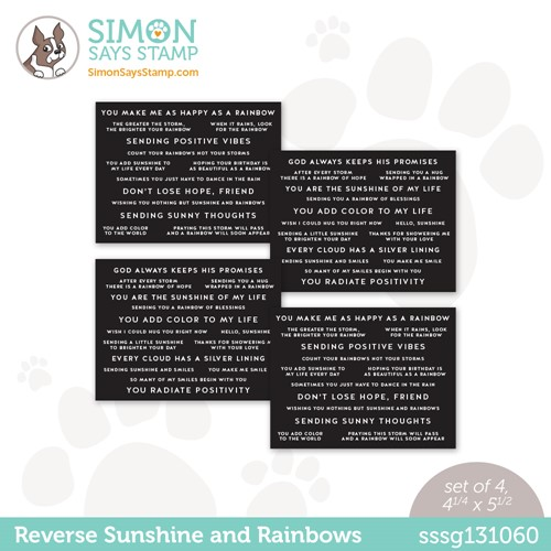 Simon Says Stamp Sentiment Strips REVERSE SUNSHINE AND RAINBOWS sssg131060 Make Magic Preview Image