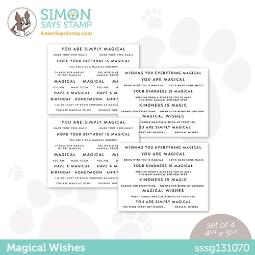 Simon Says Stamp Sentiment Strips MAGICAL WISHES sssg131070 Make Magic Preview Image