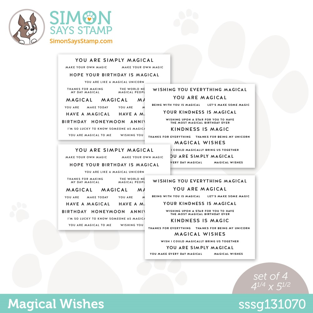 Simon Says Stamp Sentiment Strips MAGICAL WISHES sssg131070 Make Magic zoom image