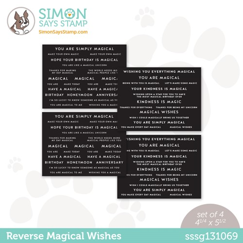 Simon Says Stamp Sentiment Strips REVERSE MAGICAL WISHES sssg131069 Make Magic Preview Image