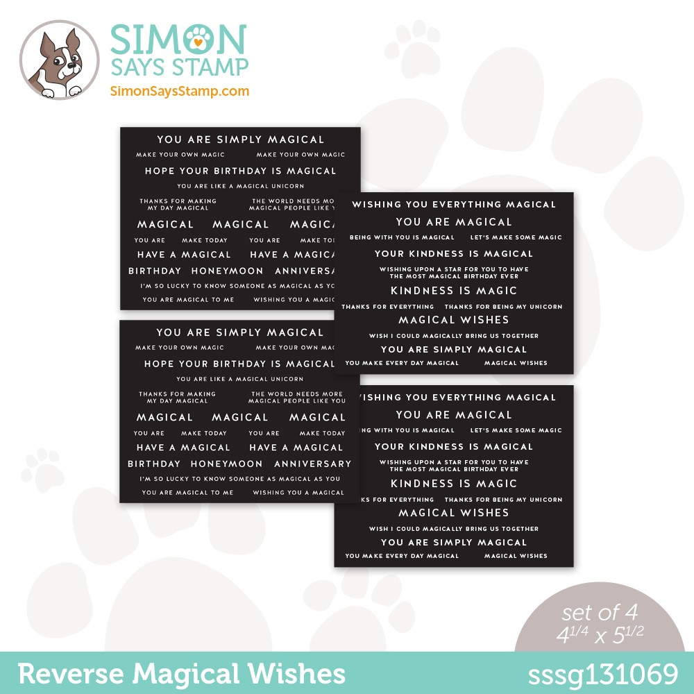 Simon Says Stamp Sentiment Strips REVERSE MAGICAL WISHES sssg131069 Make Magic zoom image