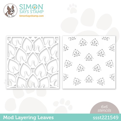 Simon Says Stamp Stencil MOD LAYERING LEAVES ssst221549 Make Magic Preview Image