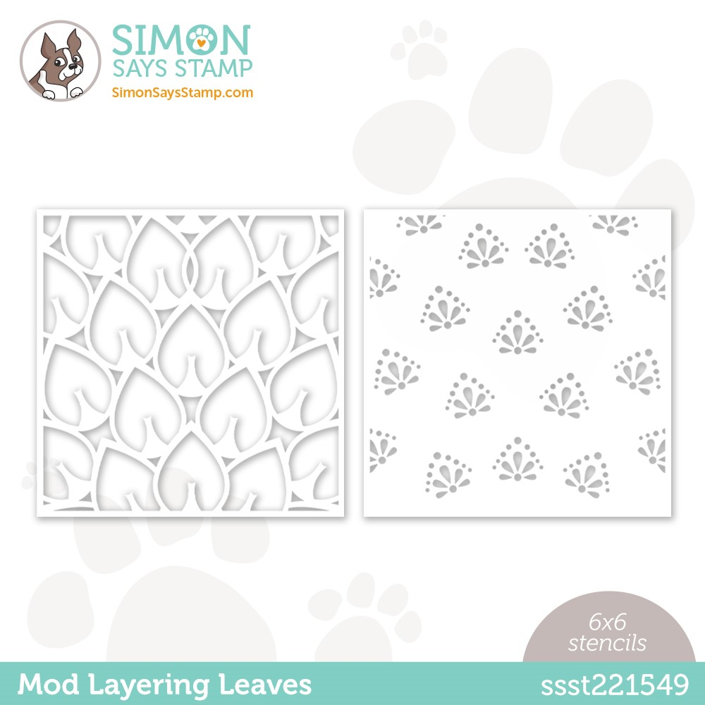 Simon Says Stamp Stencil MOD LAYERING LEAVES ssst221549 Make Magic zoom image