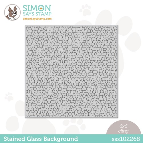 Simon Says Cling Stamp STAINED GLASS BACKGROUND sss102268 Make Magic Preview Image