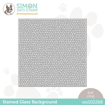 Simon Says Cling Stamp STAINED GLASS BACKGROUND sss102268 Make Magic