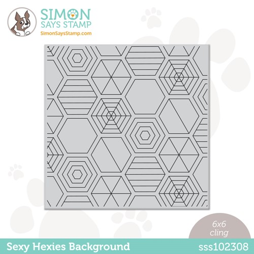 Simon Says Cling Stamp SEXY HEXIES BACKGROUND sss102308 Make Magic Preview Image