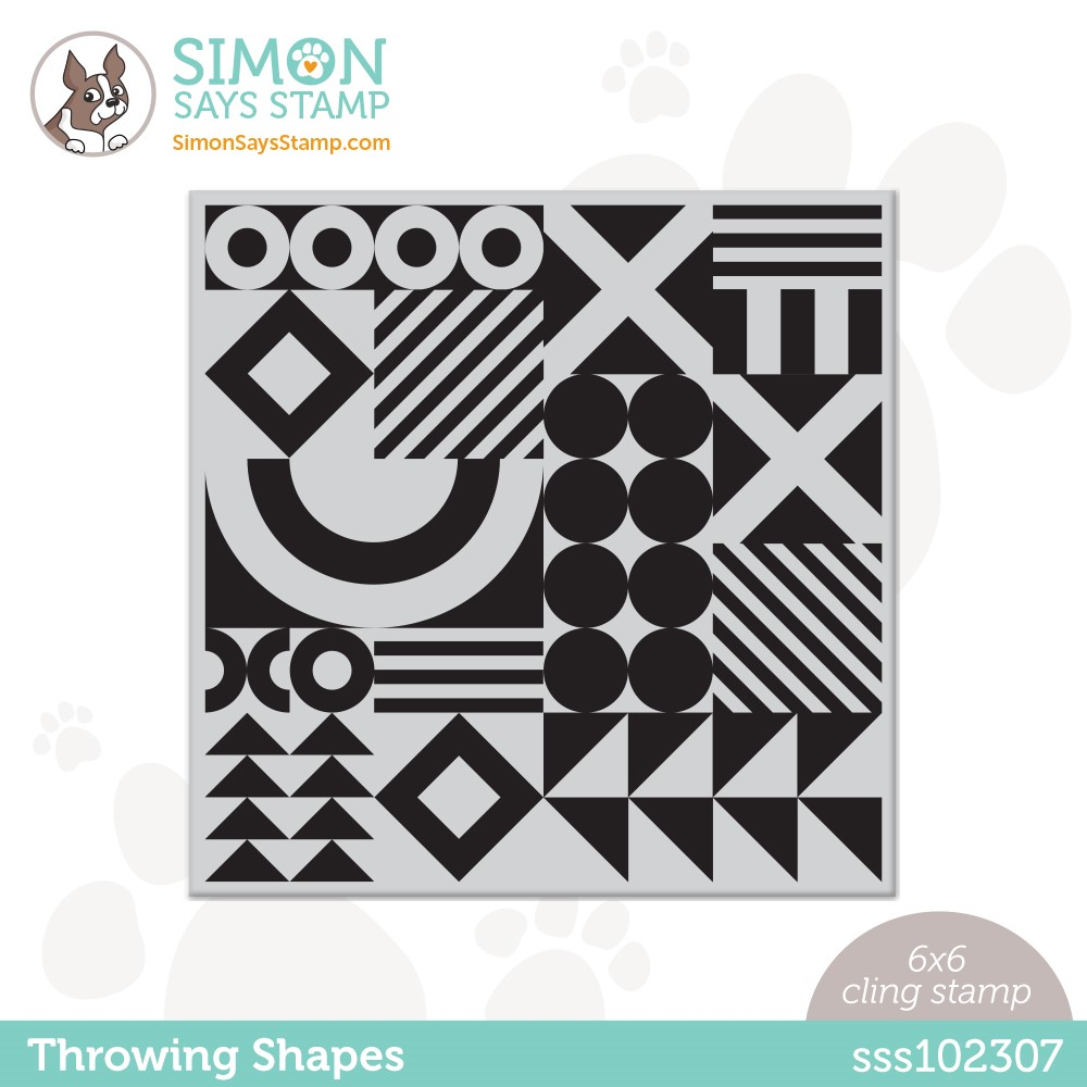 Simon Says Cling Stamp THROWING SHAPES sss102307 Make Magic * zoom image