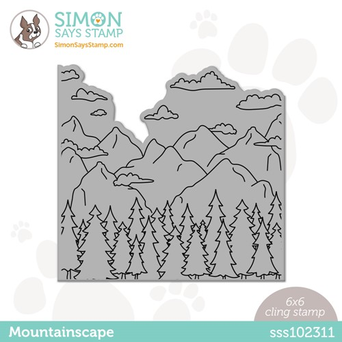 Simon Says Cling Stamp MOUNTAINSCAPE sss102311 Make Magic Preview Image