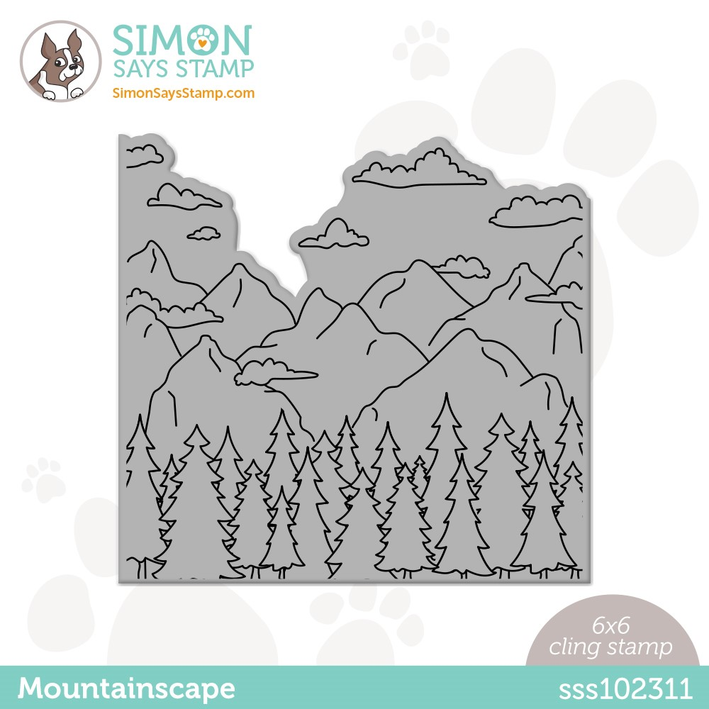 Simon Says Cling Stamp MOUNTAINSCAPE sss102311 Make Magic zoom image