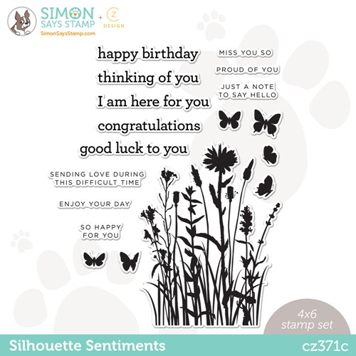 CZ Design Clear Stamps SILHOUETTE SENTIMENTS cz371c Make Magic Preview Image