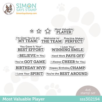 Simon Says Clear Stamps MOST VALUABLE PLAYER sss302194 Make Magic