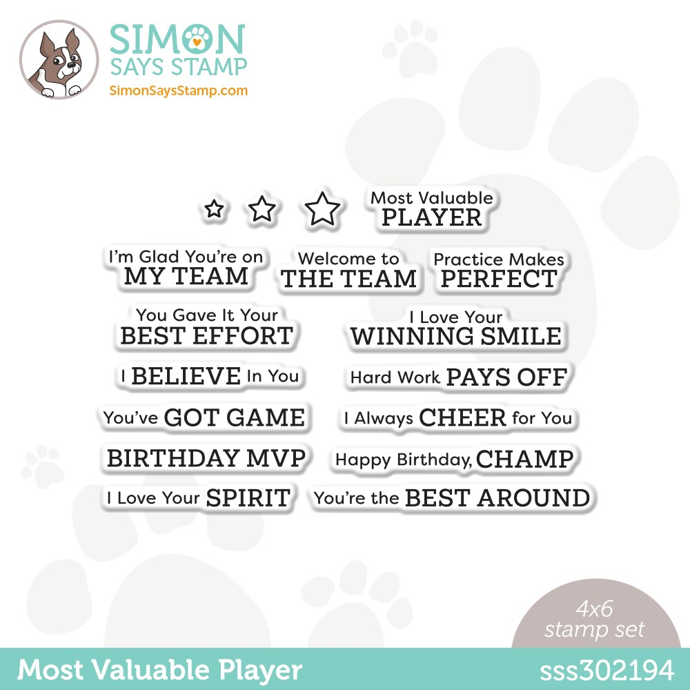 Simon Says Clear Stamps MOST VALUABLE PLAYER sss302194 Make Magic zoom image