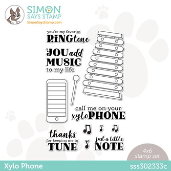 Simon Says Clear Stamps XYLO PHONE sss302333c Make Magic