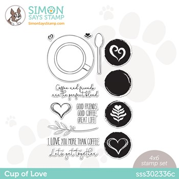 Simon Says Clear Stamps CUP OF LOVE sss302336c Make Magic